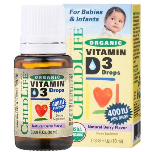 차일드라이프 어린이 비타민 D3 400IU 내추럴 베리